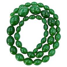 Vintage Translucent Green Bakelite Necklace