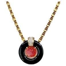 Vintage Craft (Gem Craft) Asian Inspired Necklace