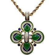 Vintage XLarge Canadian Maltese Cross Pendant D'Orlan