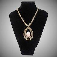 Vintage Mazer Jomaz Large Pendant Necklace