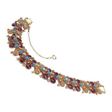 Vintage Florenza Link Bracelet