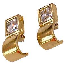 Vintage Givenchy Rhinestone Earrings