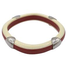 Vintage Guy Laroche Laminated Resin Bracelet