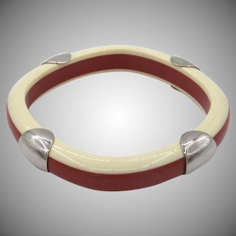 Vintage Guy Laroche Laminated Resin Bracelet