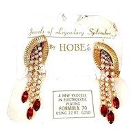Vintage Hobe NOS Rhinestone Earrings