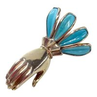 Vintage Figural Hand Pin Brooch