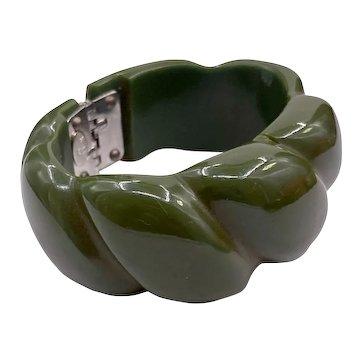 Vintage Kenneth Jay Lane KJL Bakelite Clamper Bracelet