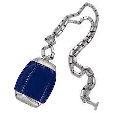 Lanvin Paris Modernist Resin Pendant Necklace