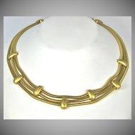 Vintage Monet Snake Chain Necklace