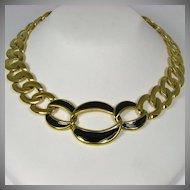 Vintage Napier Double Link and Enamel Necklace