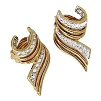 Vintage Nina Ricci Rhinestone Earrings