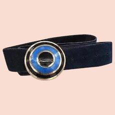Vintage de Passille Sylvestre 1970's Suede Belt