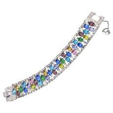 Vintage Multicolor Rhinestone Bracelet