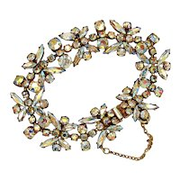 Vintage Sherman Aurora Borealis Butterfly Bracelet