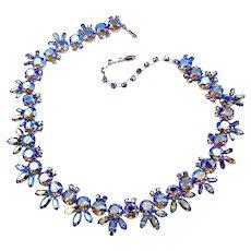 Vintage Sherman Starlight Floral Design Necklace