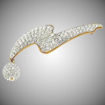 Vintage Swarovski Crystal Brooch with Swan Mark