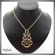 Vintage Retro Trifari Articulated Pendant Necklace