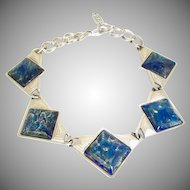 Vintage YSL Yves St Laurent Dichroic Glass Necklace