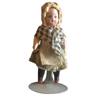 "German All Original 3.5"" Bisque Composition Doll"