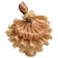"Dresden German 4 3/4"" Figurine Ballet Figurine"
