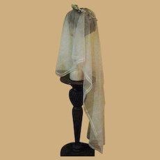 Authentic, Vintage 20's Wedding Veil,  Headpiece & Garter