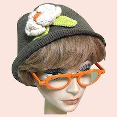 Vintage 60's Eyeglass Frames, Orange, Folding