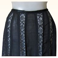 Victorian Black Lace Panel Skirt