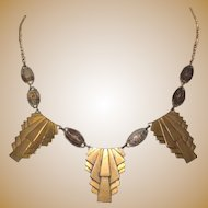 Egyptian Revival Necklace, Vintage Pididdly Links, 1970's