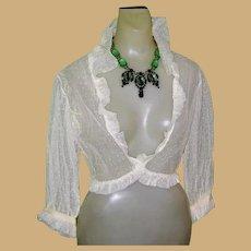 Deco 1930's Silk  Nightgown & Bed Jacket, Peignoir Set