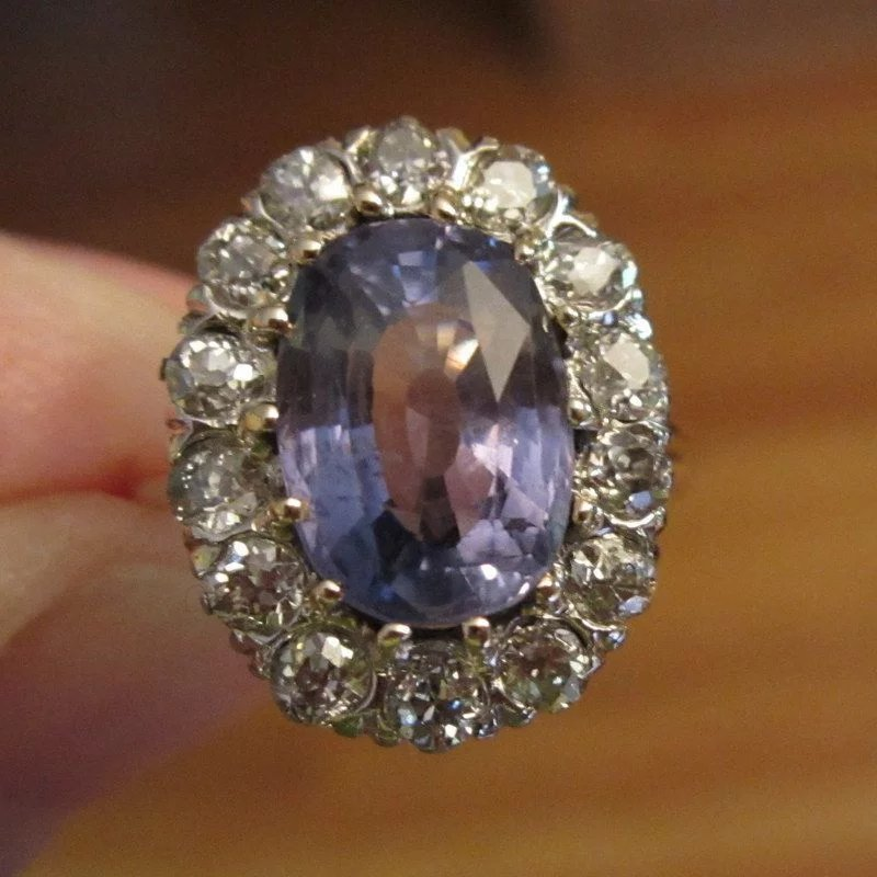 Antique Pink Sapphire Ring For Sale