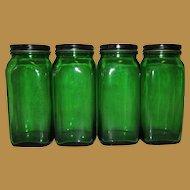 Duraglass Owens Illinois Canister Set, Glass Hoosier Jars, 4