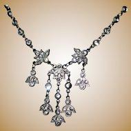 Edwardian Paste Necklace, Fancy Chain