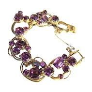 Juliana Rhinestone 5 Link Bracelet, Over the Top Purple D&E