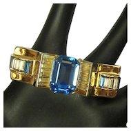 Deco Corocraft Rhinestone Bracelet, 40's, Hinged