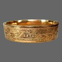 Victorian Bangle Bracelet, Rose Gold Rolled
