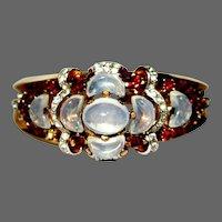 Clarie De Lune, Trifari Bracelet & Earrings  Rhinestone 1950's