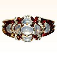 Trifari Bracelet & Earrings, Clarie De Lune,  Rhinestone 1950