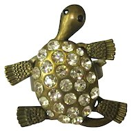 Rhinestone Turtle Ring, Moving Head, Legs & Tail