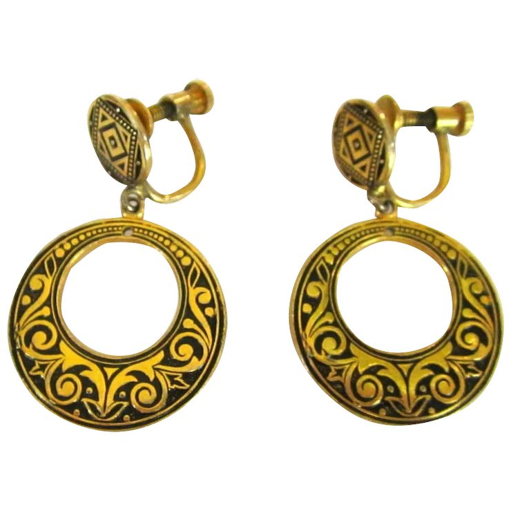 Hoop Earrings Spanish Design Articulated Vintage