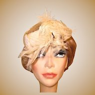 Vintage Hat, Feathers & Beads, Bridal 1930's