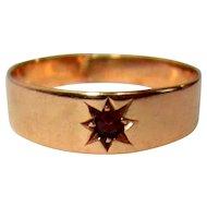 Rose Gold & Garnet Ring, Victorian Signet / Child / Infant