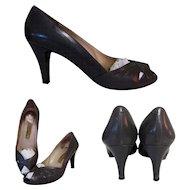 Vintage Italian Heels, Amalfi Shoes, All Leather 60's