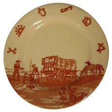 Wallace China Chuck Wagon Desert Plate, Restaurant Ware