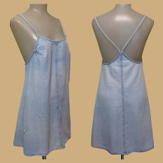 Denim Sun Dress, 80's Vintage Laundry