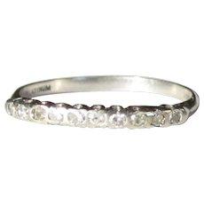 Platinum Diamond Ring , CD Peacock Antique Band