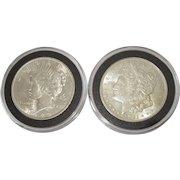 1921 Morgan Silver Dollar & 1922 Peace Dollar