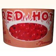 Ferrara Pan Bracelet, Red Hots Cuff, Vintage