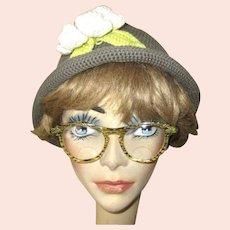Vintage Lucite Confetti Eyeglass Frames, 1950's