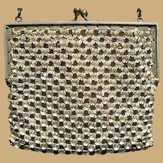 Art Deco Rhinestone Purse, Vintage Party Handbag