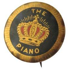 Vintage Piano Button, Crown, Chicago